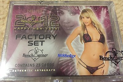 2012 Benchwarmer Happy New Year Sealed Box Set #/750 -24+Autograph/auto Per Set