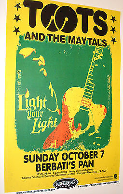 Toots and the Maytals Concert Poster . Roots Reggae