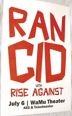 Rancid Poster - Let Dominoes Fall And Wolves Come Out