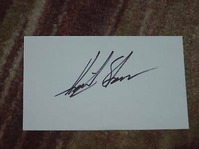 Henrik Stenson Signed 3x5 index Card