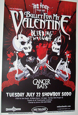 Bullet For My Valentine Concert Poster .Scream Aim Fire