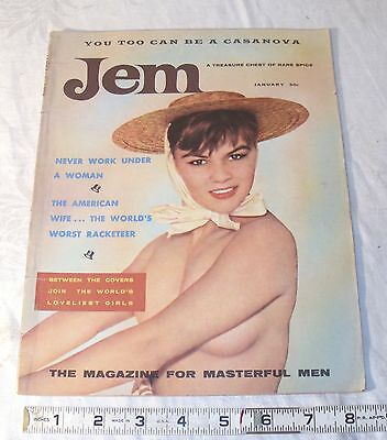 Jem Men's Pin Up Cheese Cake Magazine, Cars, Sports 1956 January