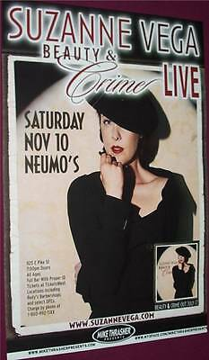 Suzanne Vega Concert poster .. Beauty & Crime