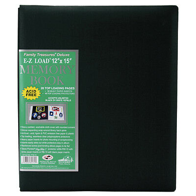 "Pioneer Family Treasures Fabric Post Bound Album 12""X12""-Hunter Green"