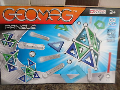 Geomag Panels  68 Pce Magnetic Construction Set New Free Post