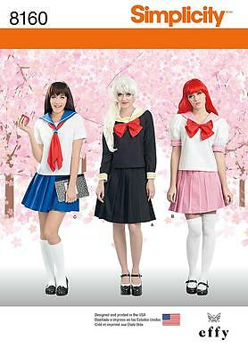 Simplicity Sewing Pattern Misses' Cosplay Costume Pleated Skirt Top 4 - 22 8160