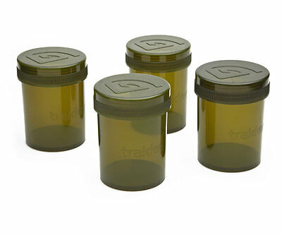Trakker NEW Carp Fishing Screw Top Waterproof Glug Pots *Pack Of 4* - 210605