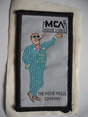 Mca Home Video The Movie Mogul Company Vintage Cloth Crest Badge Rare
