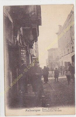 CPA SALONIQUE Salonica Greece Rue Venizelos street Edit GRIMAUD  ca1917