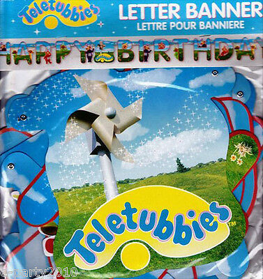 TELETUBBIES HAPPY BIRTHDAY BANNER ~ Vintage Party Supplies Room Decorations