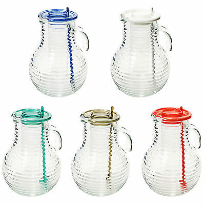 Bormioli Rocco 2L Water Glass Ringed Pitcher Jug Ice Core Cocktail Juice Stirrer