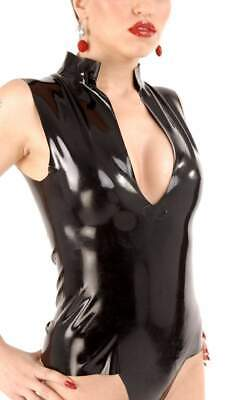 Anita Berg - Sexy knappes Latex Shirt / Top in diversen Farben