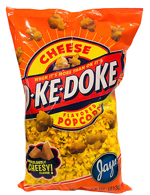 Okedoke Cheese Flavored Popcorn Jays 8 oz O Ke Doke