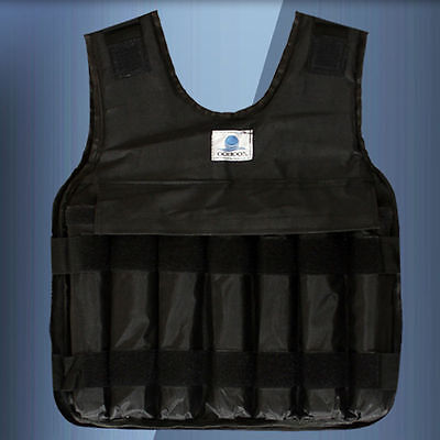 Empty 44Lbs/20Kg Adjustable Weighted Vest Jacket Strength Fitness Stylish Gym