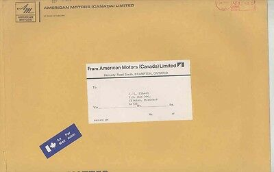 1973 American Motors Canada ORIGINAL EMPTY Factory Mailing Envelope ww0493