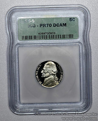 5c Five Cent 1985 S PR70 DCAM ICG Rare Deep Cameo Jefferson Nickel