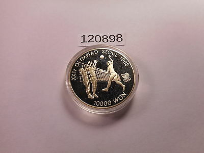 1988 Seoul Proof Olympic Vollyball .925 Silver 33.62 Gr - 10000 Won - # 120898