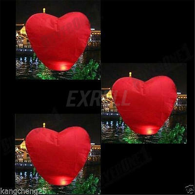 10Pc Chinese Paper Flying Sky Lanterns For Wedding Party Anniversary Valentine