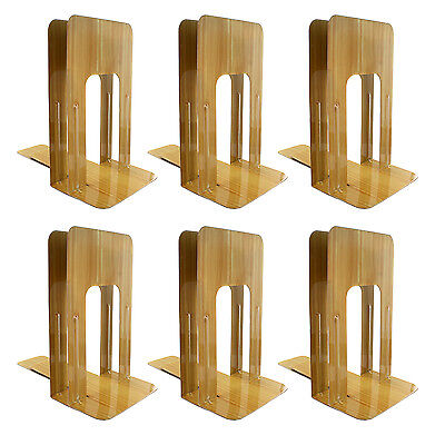 """officemate Bookends Non-Skid Base 1 Pair 5.875x8.25x9"""" Wood Grain, 6 Packs"""