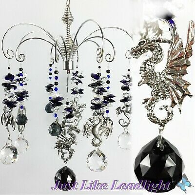 DRAGON CHANDELIER crystal suncatcher, window decoration gift made to order in OZ