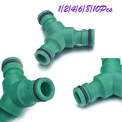 Y-Shaped Garden Water Hose Pipe Connector Tubing Fittings 3 Ways Plumbing Joiner