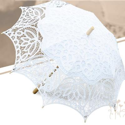 Vintage Lace Sun Parasol Umbrella for Wedding Party Photo Accessory
