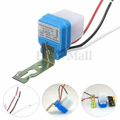 Automatic Auto On Off Street Light Switch Photo Control Sensor for AC 220V 10A