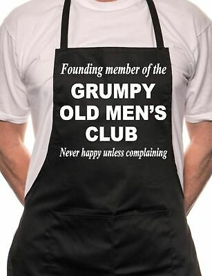 Grimpy Old Men BBQ Cooking Funny Novelty Apron