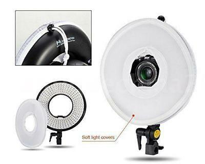 LED Ring Video Light Dimmable 3000K-7000K for Canon Nikon Sony Camera Camcorder