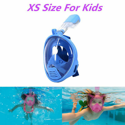 Hot Child Full Face Snorkel Diving Mask Scuba Swimming Goggles Anti-fog for Kids