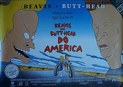 Beavis & Butthead Do America (1996) UK QUAD Poster, Mike Judge 30 x 40 inches
