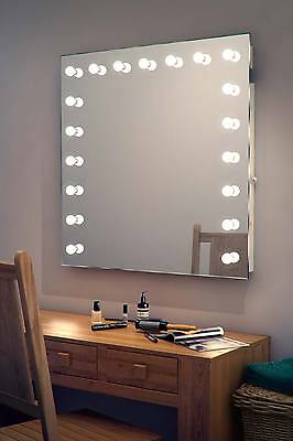Diamond X Wallmount Hollywood Makeup Mirror with Warm White Dimmable LED k94WW