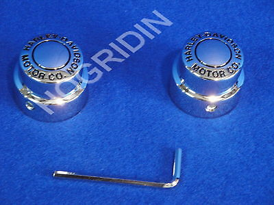 Harley h d motor company front axle nut cover softail touring dyna sportster