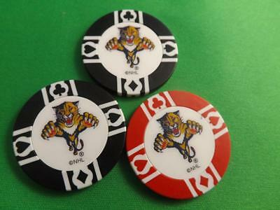 Florida Panthers Nhl Hockey Poker Chips Collector Lot 3 Pieces