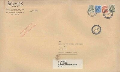 1965 Rootes Humber Hillman Sunbeam Commer Italy EMPTY Envelope ww0543