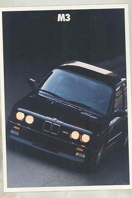 1987 BMW M3 US Prestige Brochure ww1015