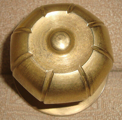 Greece antique heavy solid brass large door knob handle pull & push only -D35