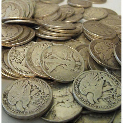1054 Sold in Last 7 Days! One Troy Pound 90% Silver US Coins Mixed Half Dollars