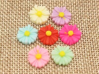 20Pc 10mm DIY Resin Flowers Flatback Scrapbooking for Phone//Wedding Crafts BN