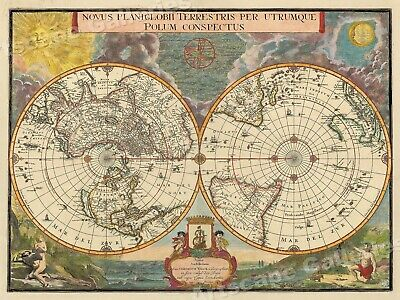 1695 Old World View Historic Vintage Style Wall Map - 18x24