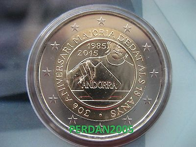 Andorra 2015 2 Euro In Official Coincard Rights To The Men And Women Bu Quality.