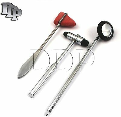 Set of 3 Pcs Reflex Taylor + Babinski + Buck Percussion Hammer Mallets