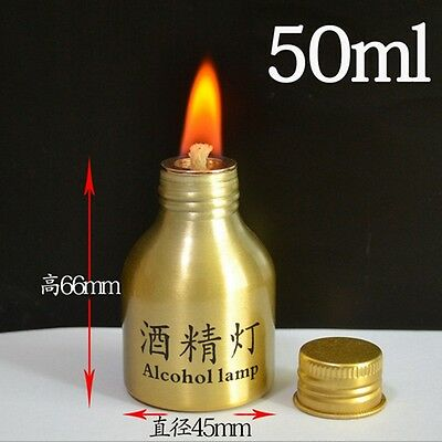 Convenient Durable Alcohol Burner Lamp Metal Case Lab Equipment Heating 50ml NS