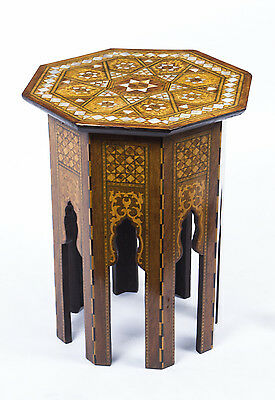 Antique Syrian Mother Pearl Inlaid Occasional Table c.1900