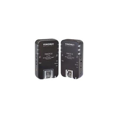 Yongnuo YN-622C II E-TTL Wireless Flash Transceiver for Canon Cameras, 2 Pack