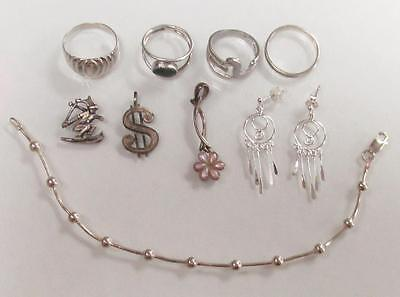 Dealer's Lot of 9 Sterling Silver Miscellaneous Items ~ 18.2 grams ~ 3-C9134
