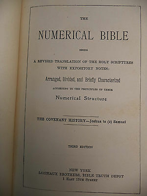 The Numerical Bible Revised Translation Holy Scriptures 3rd Edition 1904 Book
