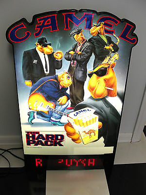 Joe Camel Cigarettes The Hard Pack Lighted Scroll Embossed Sign 1991 Rare