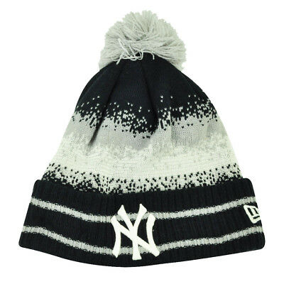 new arrival e9d8b e8726 MLB New Era Spec Blend New York Yankees Cuffed Pom Pom Knit Beanie Hat Toque