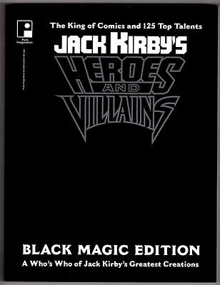 Jack Kirby's Heroes And Villains Black Magic Edition Soft Cover 1994 Rare Oop